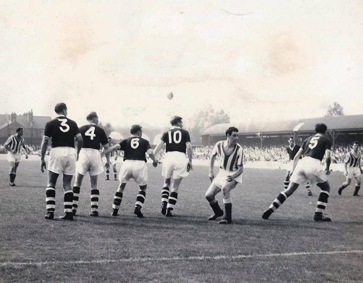 Chelmsford City v Worcester City at New Writtle Street, August 1959.