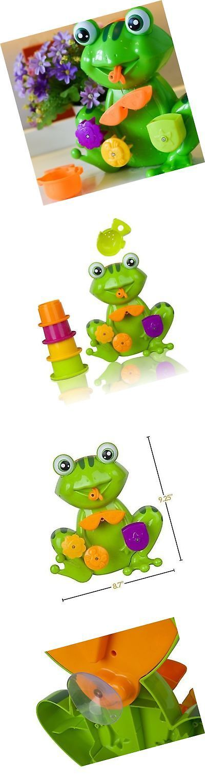 Bathing Accessories 100221: Green Frog Bath Tub Fun Toy With 4 Stacking Cups For Toddlers And Kids -> BUY IT NOW ONLY: $300 on eBay!