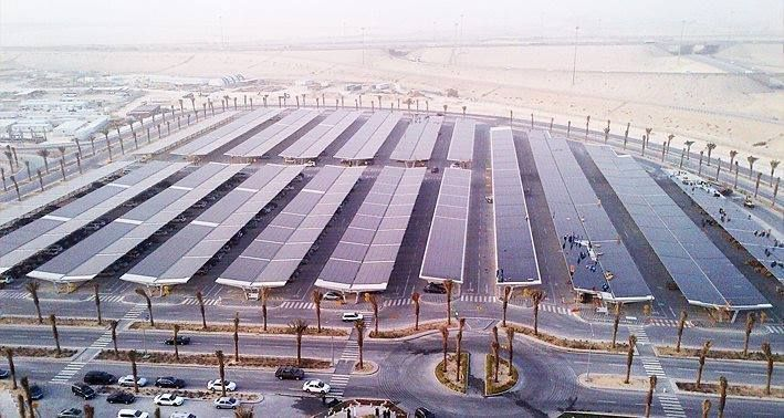 World S Largest Solar Parking Lot In Saudi Arabia