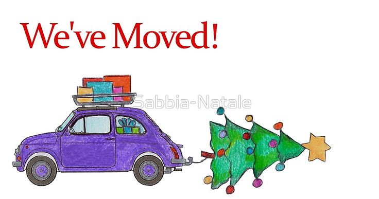 We've Moved Christmas Car New Address Announcement