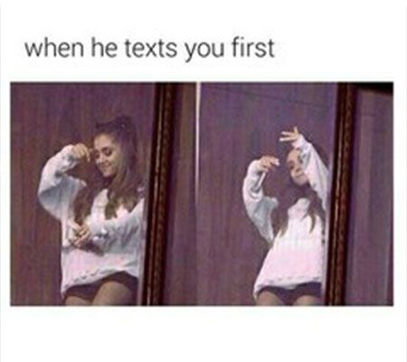 Ariana Grande Texting Crush Meme