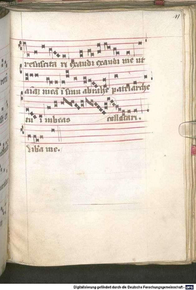 Liber ordinarius der Cistercienserschwestern von Kommunion, letzter Ölung, Tod und Leichenfeier 1439  Cgm 78  Folio 41r