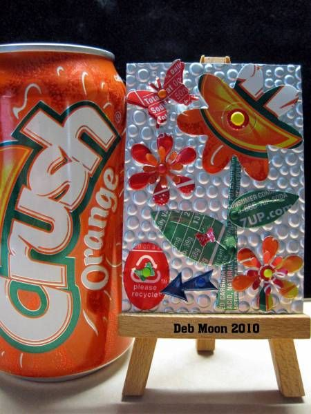 soda can art - atc by moonpie11 on splitcoaststampers.com