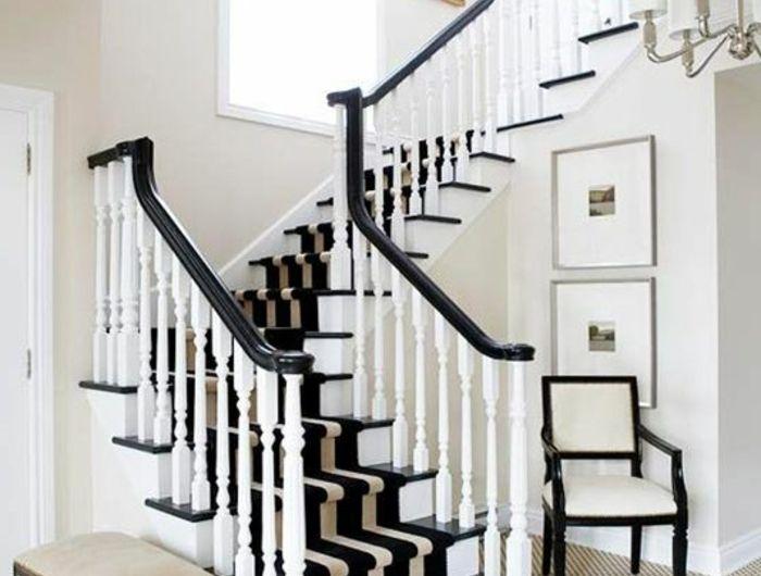 Les 25 meilleures id es de la cat gorie tapis d 39 escalier sur pinterest for Idee rampe escalier