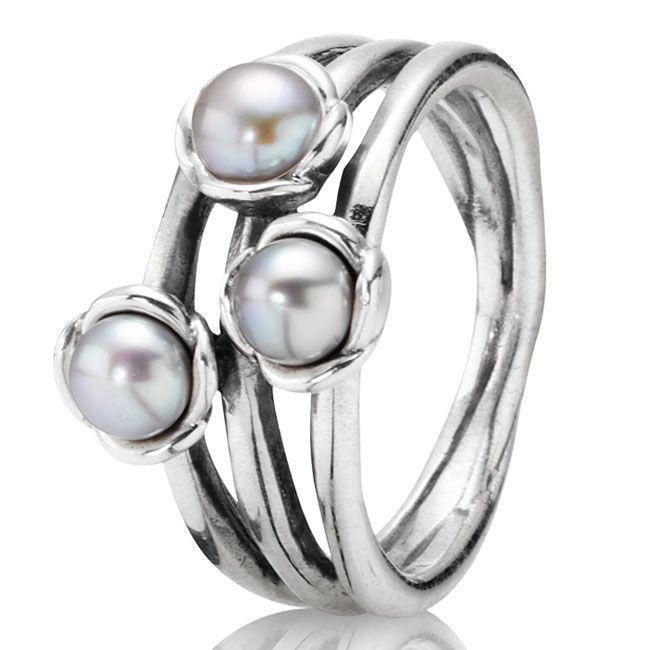 Pandora Grey Pearl Earrings