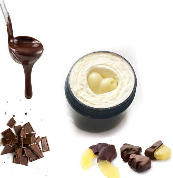 Juicy Pineapple and Decadent Dark Chocolate, smell good enough to eat!  #bodybutter #skincare