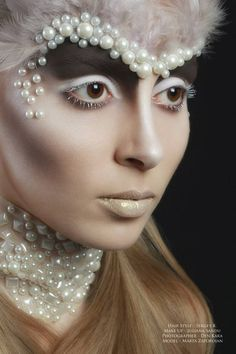 Pearl inspired makeup and face paint