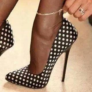 Wave-point High Heel Stiletto Heels #Heels