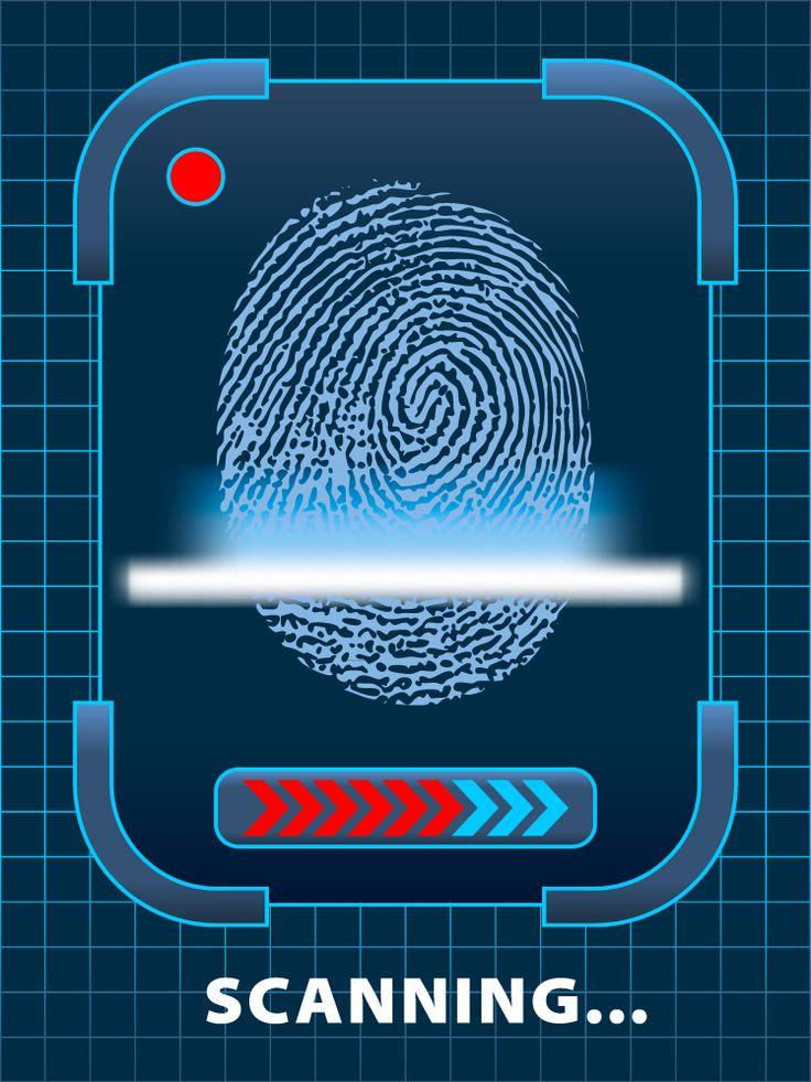 Security Fingerprint - free vector graphics 2014 VBS Agency D3