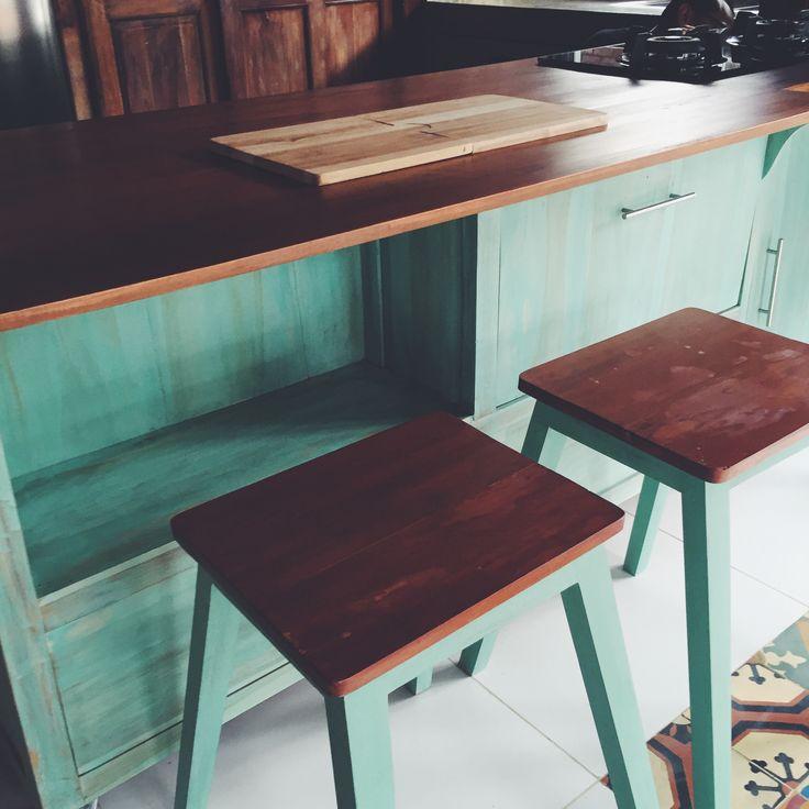Kitchen set stools   #HandyBunny #Earthmade #Handmade