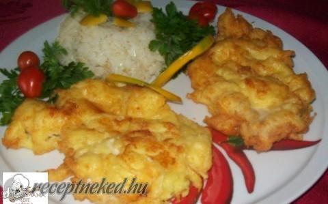Csirkemell sajtos-burgonyás bundában recept fotóval