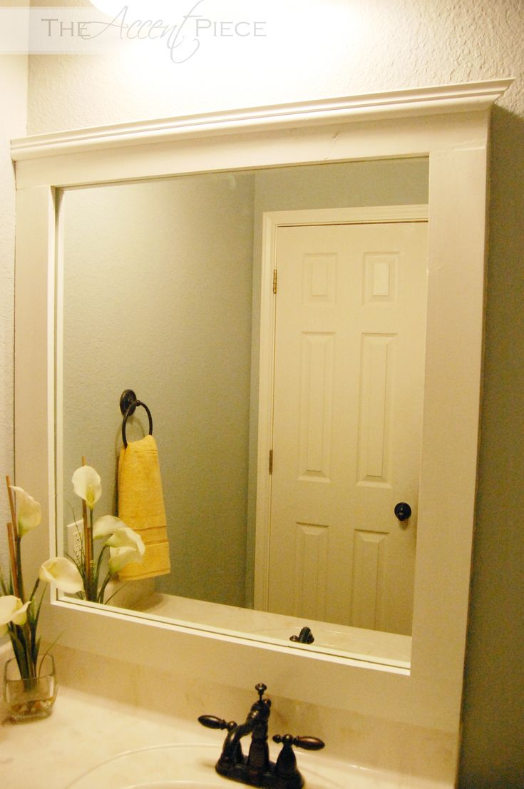 Image On Easy DIY framed mirror upgrade for bathroom or fireplace