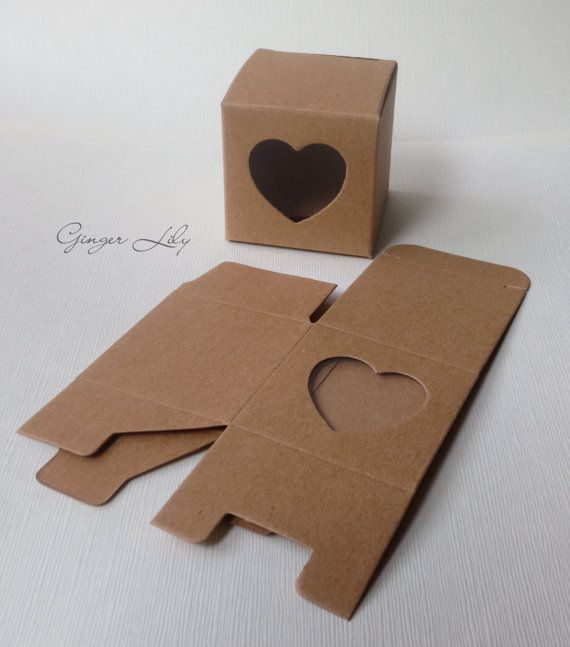 Vintage Style Brown Kraft heart Wedding Favour Box - Pack of 50 on Etsy, 24,03 €