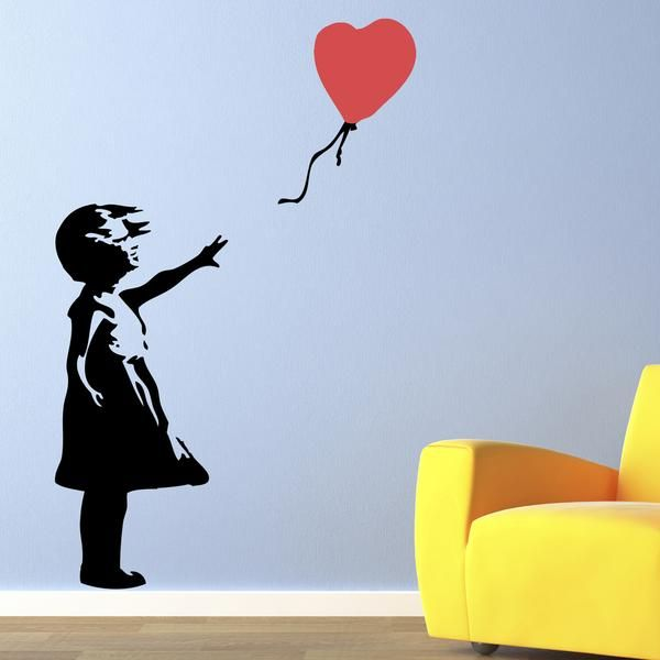 Banksy Girl with Balloon Wall Stickers