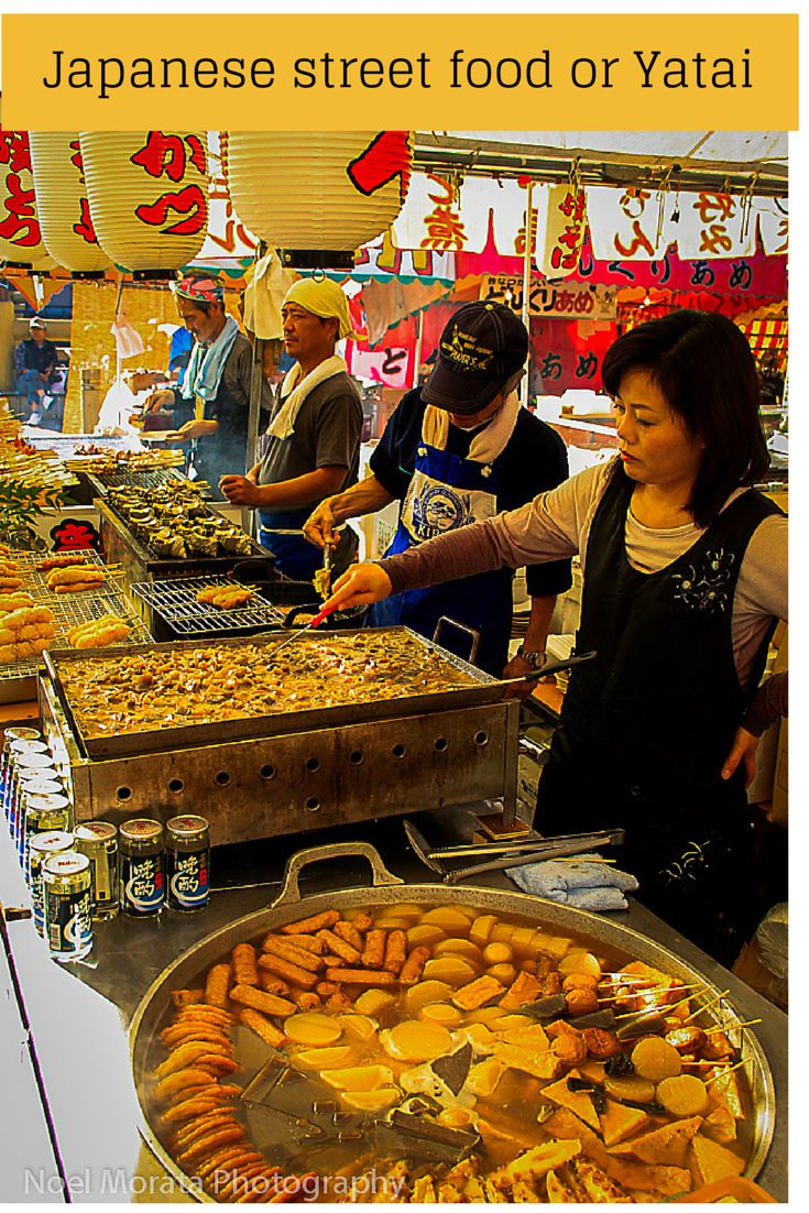 An overview of the typical street foods or yatai at a Japanese food festival #yatai #japanesefood #streetfood