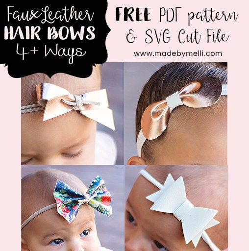 Free Templates For 4 Styles Of Faux Leather Bows Svg Cut