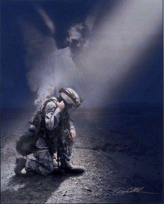 Praying soldier | Catholic pictures, Catholic print, Print pictures