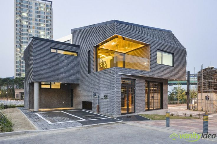 Basalt-Brick House in South Korea Built On the Concept of Sustainability