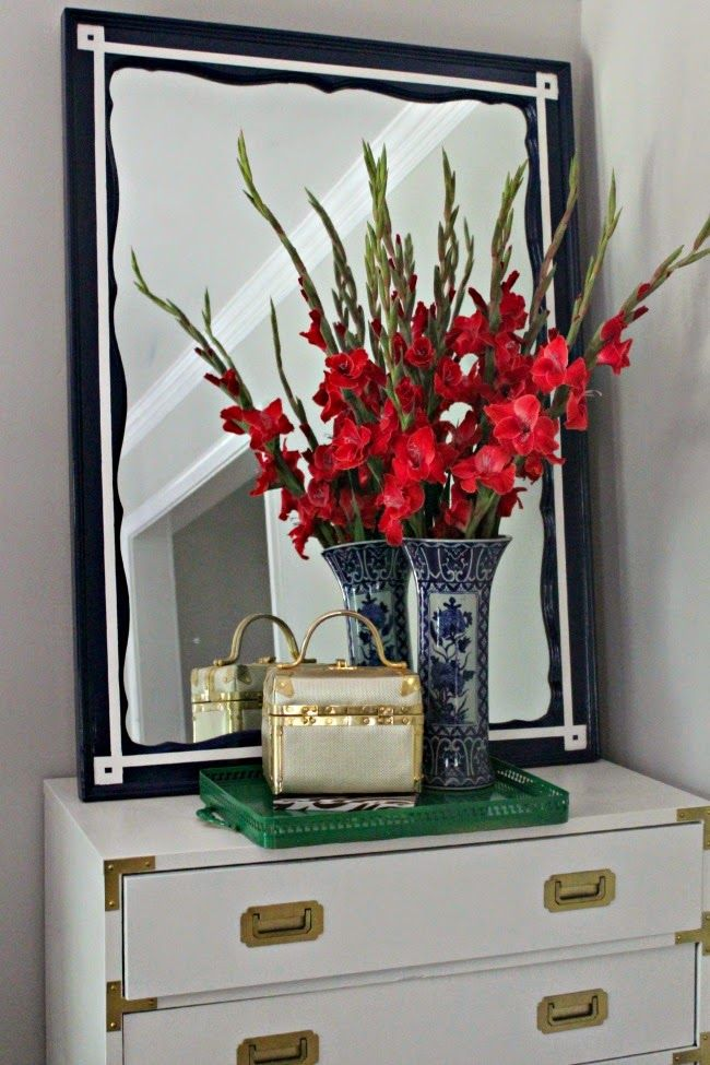 Southern State of Mind: {Princess Diana Inspired} DIY Royal Blue Greek Key Mirror