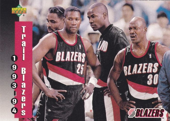 Buck Williams, Jerome Kersey, Cliff Robinson, Terry Porter---the best all around team that Portland has ever had. These guys knew how to play and be great gentlemen at the same time.  Clyde Drexler is the only one missing from this photo.