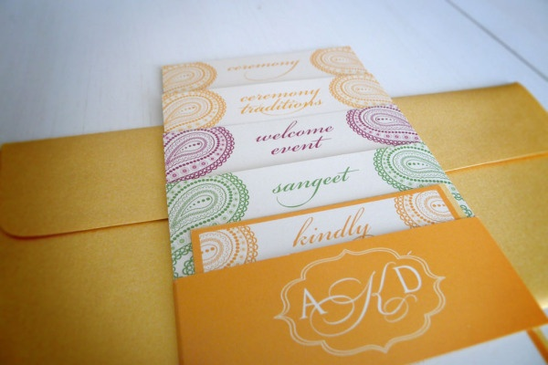 Tiered Indian wedding invitation suite www.paperandhome.com