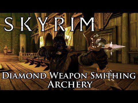 Skyrim Mod: Diamond Weapon Smithing - Archery - http://huntingbows.co/skyrim-mod-diamond-weapon-smithing-archery/