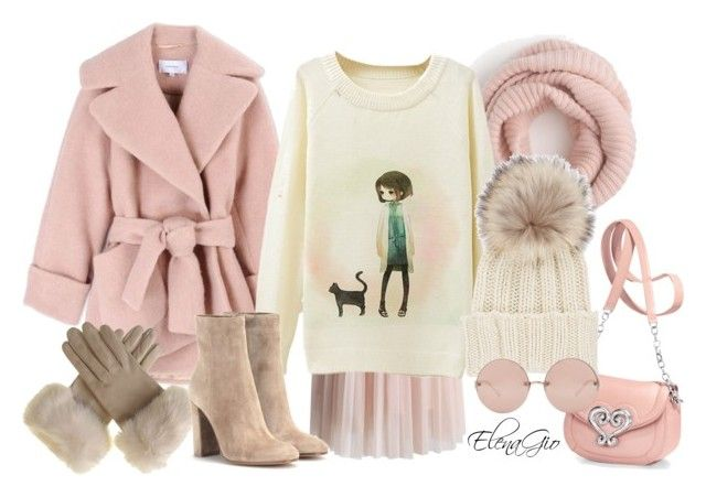 sweet by elenagio on Polyvore featuring Carven, Chicwish, Gianvito Rossi, Inverni, J.Crew and Linda Farrow