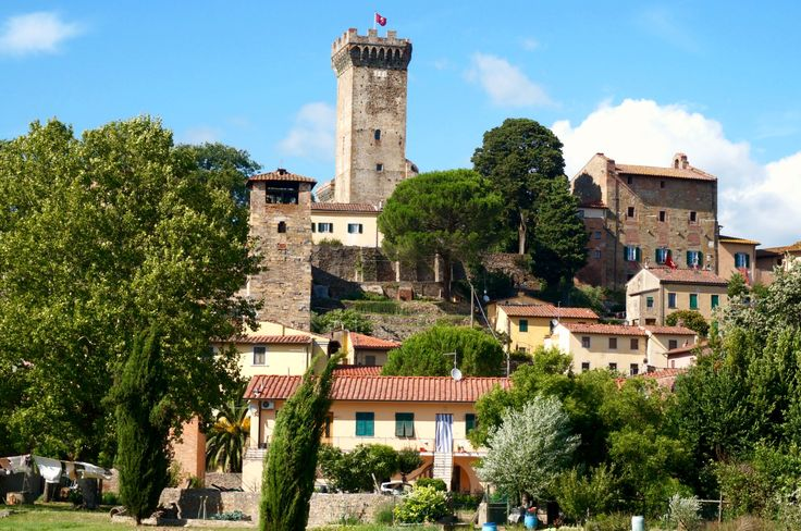 Brunelleschi's Medieval watch tower stands watch over the village