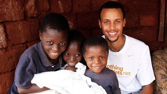 Stephen Curry donated 816 nets to African refugees: three nets for each 3-pointer he hit this season.