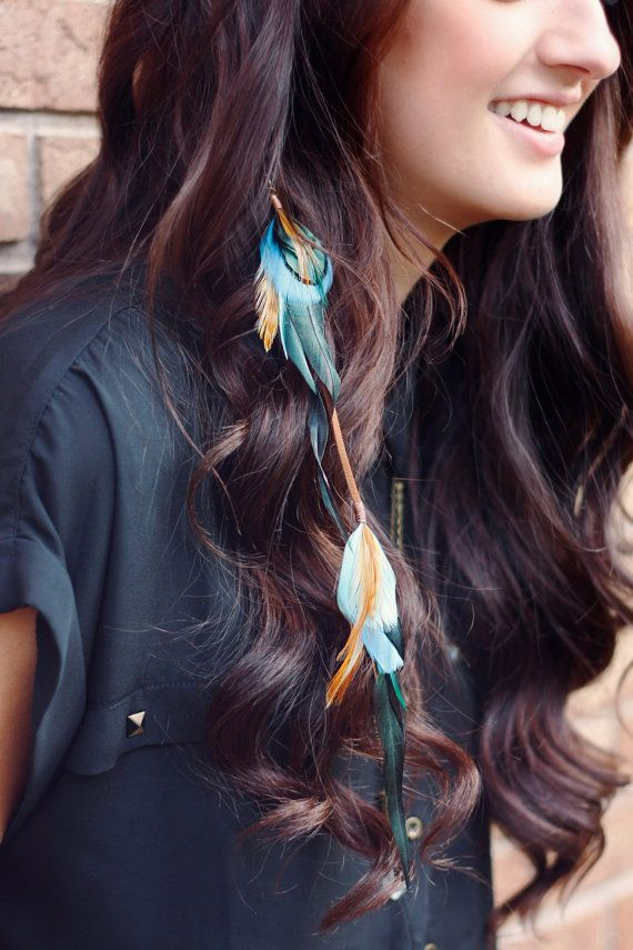 Feather Hair Clip: indian jewelry hair by kelseysfeathers on Etsy
