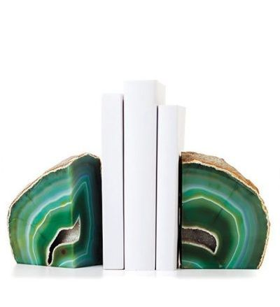 Emerald Green Agate Bookends Emerald Color of 2013, over 3,000 beautiful limited production interior design inspirations inc, furniture, lighting, mirrors, tabletop accents and gift ideas to enjoy pin and share at InStyle Decor Beverly Hills Hollywood Luxury Home Decor enjoy happy pinning