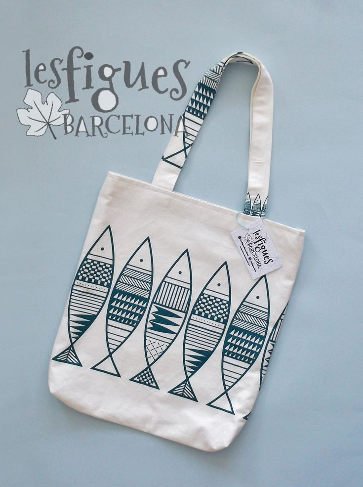 Blue Fishes Bag Tote Bag Shoulder bag Handbag College tote