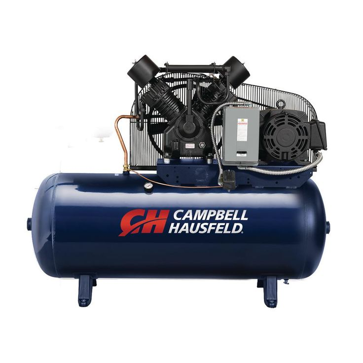 120 gal. Horizontal 52.4CFM 15HP 208-230/460V Two-Stage Stationary Electric Air Compressor