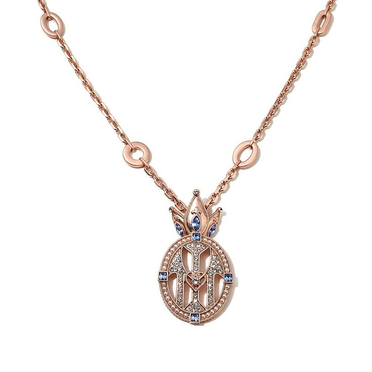 Colleen Atwood Crystal-Accented Crown Drop Necklace