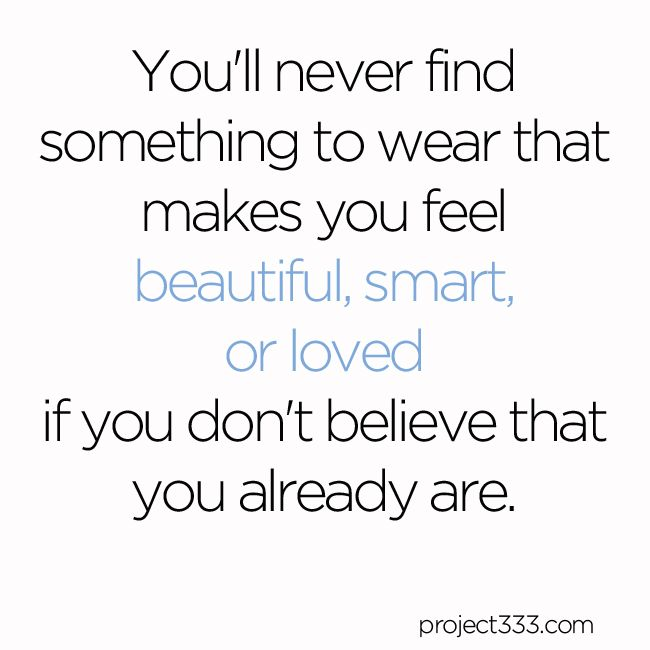 Quotes from #project333 to inspire your capsule wardrobe.