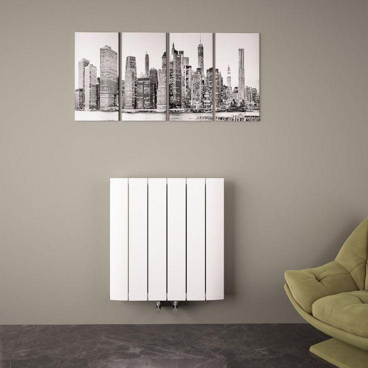 radiador de diseo horizontal aluminio blanco mm x mm vatios