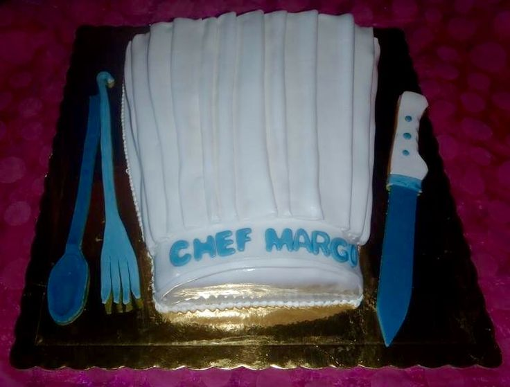 Handmade birthday cake chef hat