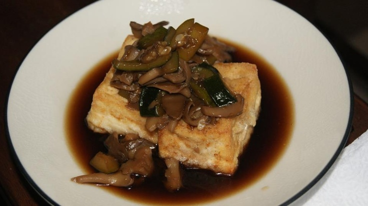 Fried Tofu w/ Mushroom-Soy Broth