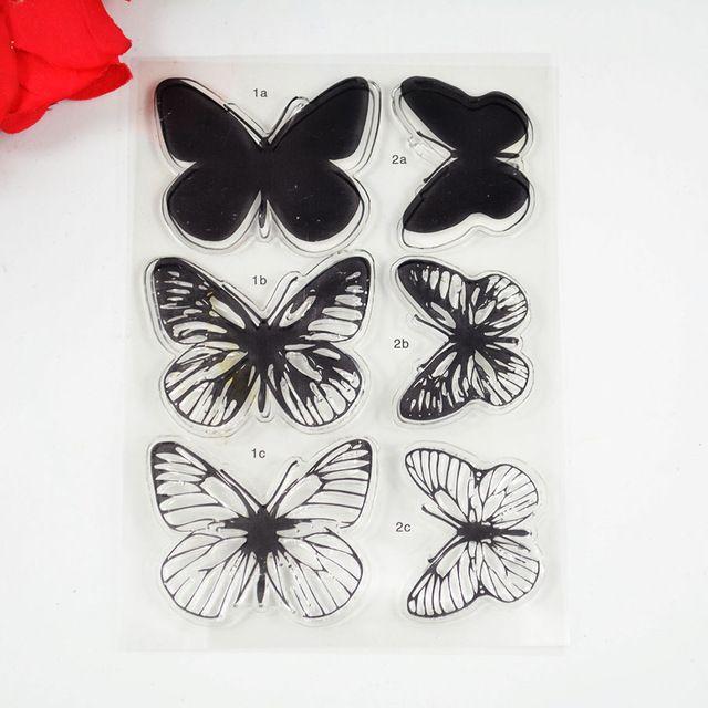 Milieuvriendelijke Transparante Stempel Effen blok vlinders Voor DIY Scrapbooking/Card Making/Decoratie Benodigdheden