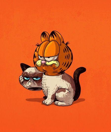 Alex Solis- Garfield and Grumpy Cat
