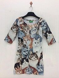 kvinnors harajuku stil 3d print kortärmad klännin... – SEK Kr. 180