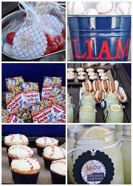 Baseball party ideas......would b perfect for any nephews I may have in the future!