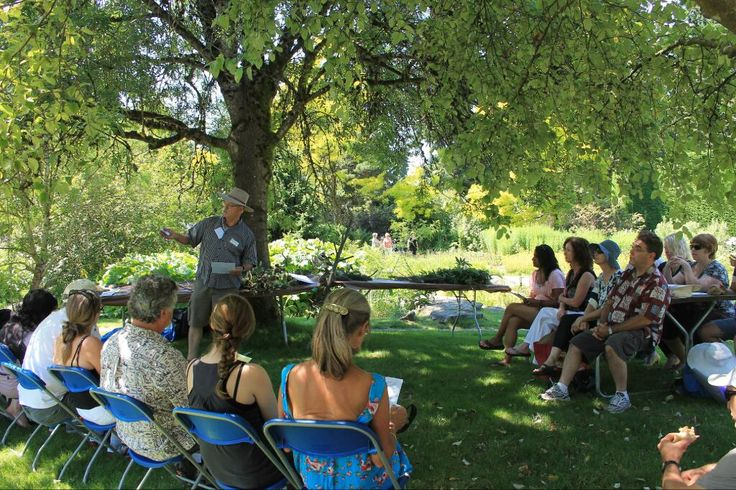 Gardening workshop at EPIC led by Richard Hallman. What a beautiful and lush location for a gardening workshop!