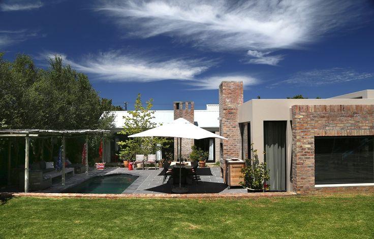 Chiappini Street: View of house from Garden. FIREFLYvillas, Hermanus, 7200 @fireflyvillas ,bookings@fireflyvillas.com,  #ChiappiniStreet #FIREFLYvillas #HermanusAccommodation