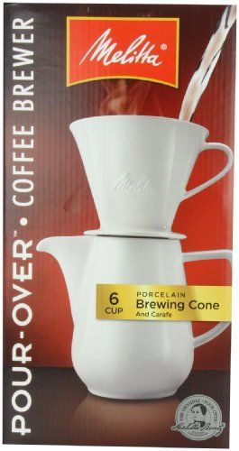 Melitta Coffee Maker, Porcelain 6 Cup Pour- Over Brewer - http://www.teacoffeestore.com/melitta-coffee-maker-porcelain-6-cup-pour-over-brewer/