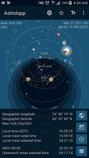 Astrolapp Planets and Sky Map v2.1 build 649 [Paid]   Astrolapp Planets and Sky Map v2.1 build 649 [Paid] Requirements:4.0.3 Overview:Astrolapp shows the paths of our Solar System's objects in the sky including the orbits of the Sun the Moon and the planets in the style of a medieval astrolabe.  In addition to the Solar System Astrolapp's sky map shows 9096 of the brightest stars and the 48 Ptolemaic constellations. Use Astrolapp as a planning tool for your next astronomical observation trip…