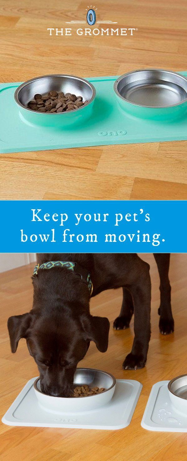 Keep your pet's bowl from moving. ONO tidies up mealtime