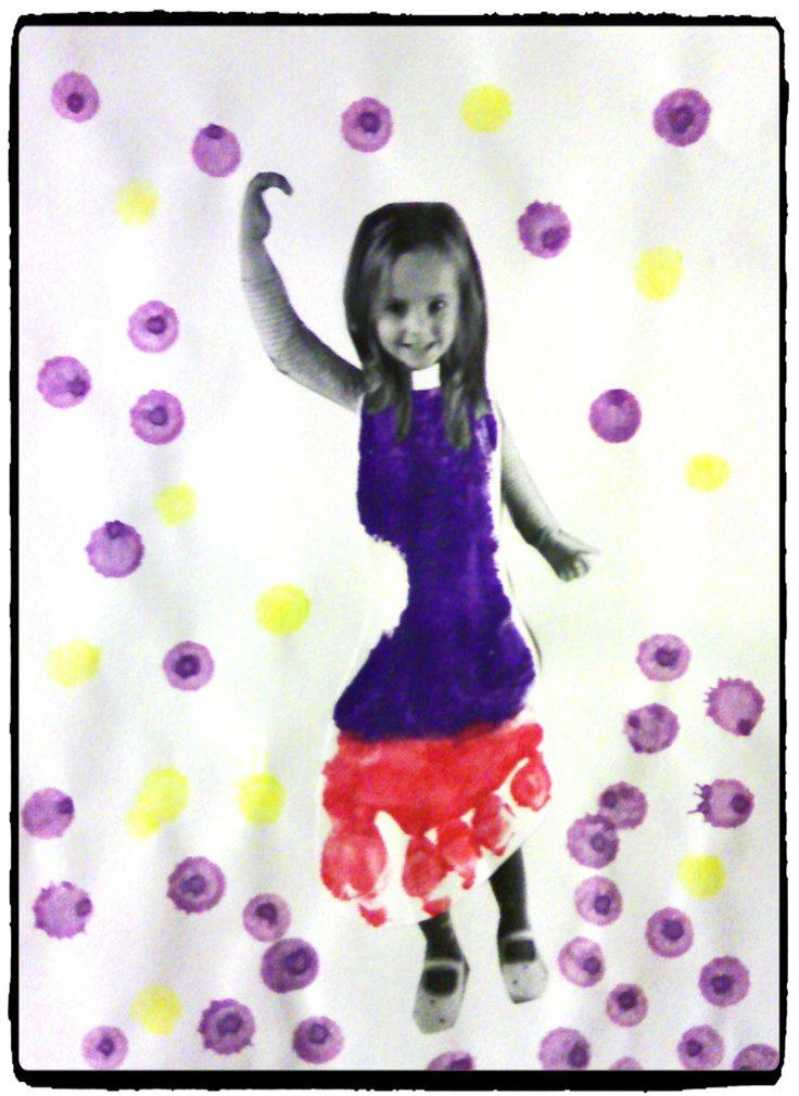 empreinte de pied, danseuse, bricolage enfant