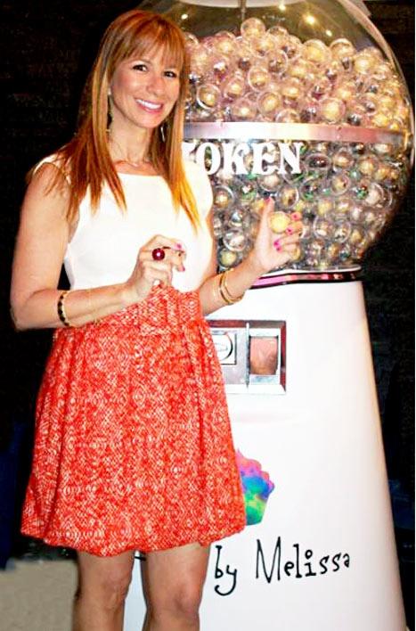 Jill Zarin Enjoys Baked By Melissa Cupcake Gumball Machine