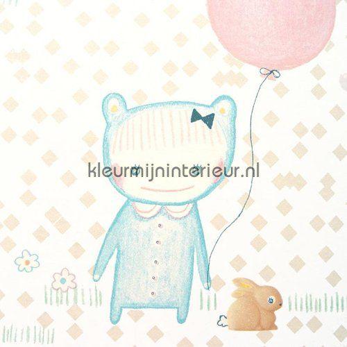 Ballon pastel behang 354011 uit de collectie Tout Petit van Eijffinger ontdek je bij kleurmijninterieur
